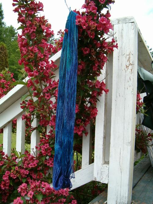 Dye-o-rama yarn for my swap pal Jo